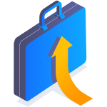 Ciphix Suitcase arrow up icon