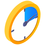 Ciphix clock time saving icon