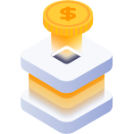 Ciphix stage coin money saving icon